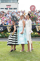 31/07/2014 Repro free The winner of the Anthony Ryans Best Dressed Lady Competition on Ladies Day at the Galway Races is Helen Murphy(centre) from Douglas, Co.Cork.  Sporting a hat designed by Galway based milliner Edel Ramberg, Paula Clancy(rhs) from Inverin, Co.Galway was the winner of the Anthony Ryans Best Hat Competition and The winner of the Anthony Ryans Wear Irish Award, for the lady with the most appropriate choice of Irish design or accessories in her ensemble was Emer Nash        from Castlemahon, Co. Limerick. Photo:Andrew Downes