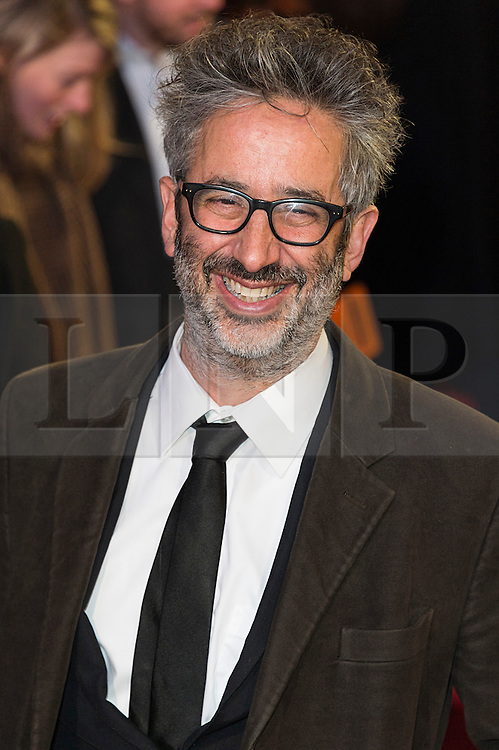 © Licensed to London News Pictures. 22/02/2016 .  DAVID BADDIEL attends the GRIMSBY Film premiere. The film centres around a black-ops spy whose brother is a football hooligan.  London, UK. Photo credit: Ray Tang/LNP