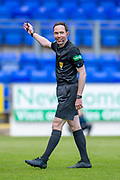 Referee Colin Steven is all smiles during the Ladbrokes Scottish Premiership match between St Johnstone and Motherwell at McDiarmid Stadium, Perth, Scotland on 11 May 2019.