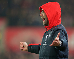 STOKE-ON-TRENT, ENGLAND - Tuesday, January 5, 2016: Liverpool's manager Jürgen Klopp during the Football League Cup Semi-Final 1st Leg match against Stoke City at the Britannia Stadium. (Pic by David Rawcliffe/Propaganda)