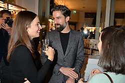 JACK GUINNESS and HEIDA REED at the launch of the Space NK Global Flagship store at 285-287 Regent Street, London on 10th November 2016.