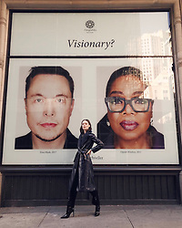 "Coco Rocha releases a photo on Twitter with the following caption: """"You say Visionary? I say, just three besties casually hanging out in NYC 👨‍👩‍👧 @elonmusk @Oprah #bffsforever"""". Photo Credit: Twitter *** No USA Distribution *** For Editorial Use Only *** Not to be Published in Books or Photo Books ***  Please note: Fees charged by the agency are for the agency's services only, and do not, nor are they intended to, convey to the user any ownership of Copyright or License in the material. The agency does not claim any ownership including but not limited to Copyright or License in the attached material. By publishing this material you expressly agree to indemnify and to hold the agency and its directors, shareholders and employees harmless from any loss, claims, damages, demands, expenses (including legal fees), or any causes of action or allegation against the agency arising out of or connected in any way with publication of the material."