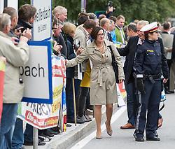 26.09.2014, Congress, Schladming, AUT, Klausurtagung Bundesregierung, im Bild Bundesministerin fuer Inneres Johanna Mikl-Leitner (OeVP) // Minister of the Interior Johanna Mikl-Leitner (OeVP) during convention of the austrian government at congress center in Schladming, Austria on 2014/09/26, EXPA Pictures © 2014, PhotoCredit: EXPA/ Michael Gruber