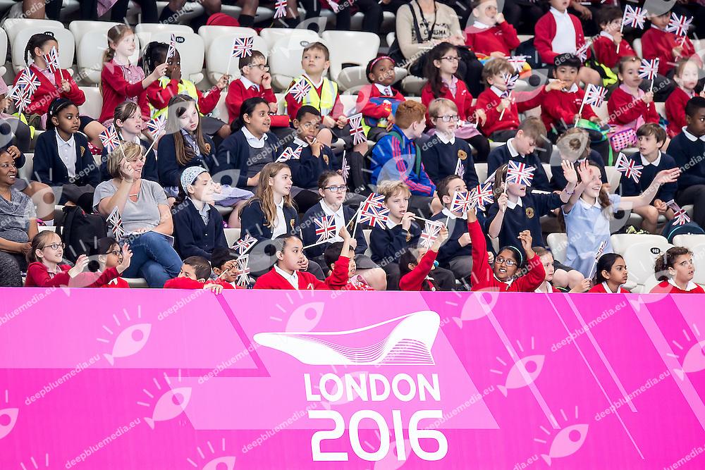 supporters GBR<br /> London, Queen Elizabeth II Olympic Park Pool <br /> LEN 2016 European Aquatics Elite Championships <br /> Synchronised Swimming Synchro Duet Tech<br /> Day 06 13-05-2016<br /> Photo Giorgio Scala/Deepbluemedia/Insidefoto