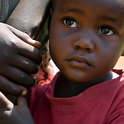 A child outside the Ting Wang'i health center.