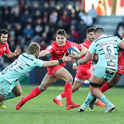 Antoine DUPONT of Toulouse during the European Rugby Champions Cup, Pool 5 match between Toulouse and Gloucester on January 19, 2020 in Toulouse, France. (Photo by Manuel Blondeau/Icon Sport) <br /> <br /> Photo by Icon Sport - Stade Ernest-Wallon - Toulouse (France)