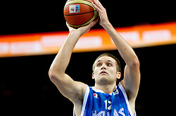 Michail Bramos of Greece during basketball game between National basketball teams of France and Greece at of FIBA Europe Eurobasket Lithuania 2011, on September 15, 2011, in Arena Zalgirio, Kaunas, Lithuania. France defeated Greece 64-56.  (Photo by Vid Ponikvar / Sportida)