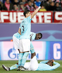 15-03-2016 ESP, UEFA CL, Atletico Madrid - PSV Eindhoven, Madrid<br /> PSV Eindhoven's Jetro Willems (r) injured in presence of Hector Moreno (l) and Nicolas Isimat-Mirin // during the UEFA Champions League Round of 16, 2nd Leg match between Atletico Madrid and PSV Eindhoven at the Estadio Vicente Calderon in Madrid, Spain on 2016/03/15. <br /> <br /> ***NETHERLANDS ONLY***