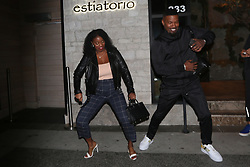 EXCLUSIVE: Jamie Foxx shows off his dance moves to a female companion outside of Avra Estiatorio in Beverly Hills. The 52 year old actor was in good spirits as he dined at the restaurant with his friends. 08 Jan 2020 Pictured: Jamie Foxx. Photo credit: MEGA TheMegaAgency.com +1 888 505 6342