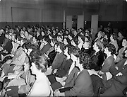 16/03/1960<br /> 03/16/1960<br /> 16 March 1960<br /> Radio Show for America in a association with Schaefer Beer, at Phoenix Hall Dublin.<br /> A section of the audience at the concert.