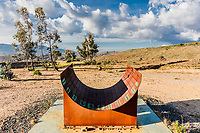 Sundial Patio De Brujas near Raquira Boyaca in Colombia South America