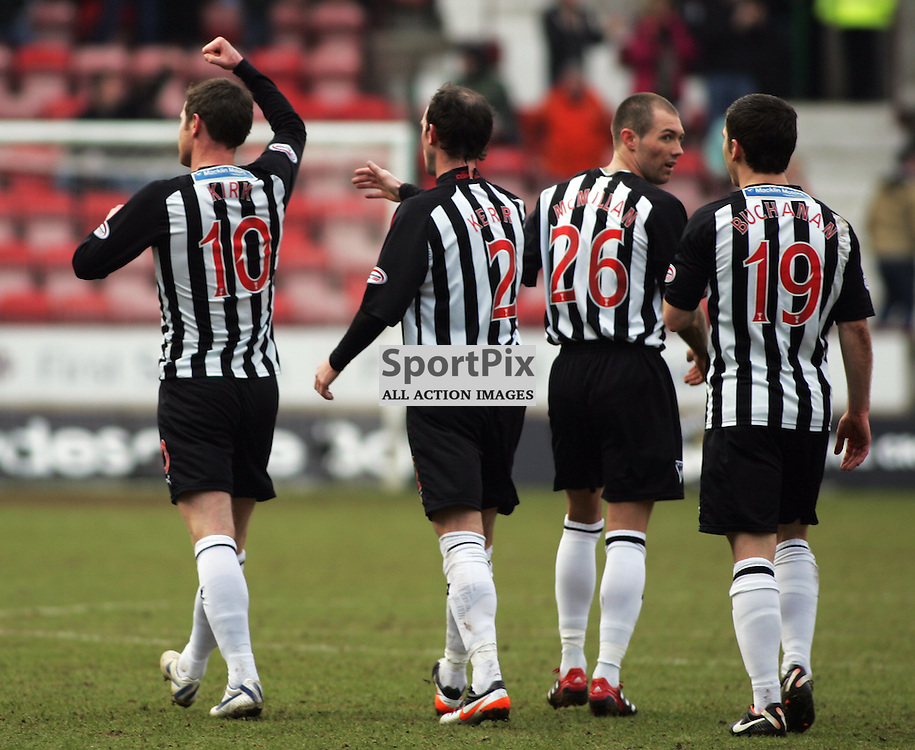 The Clydesdale Bank Scottish Premier League, Season 2011/12.Dunfermline Athletic Football Club v Rangers Football Club .11-02-12...Andy Kirk celebrates his goal in this evenings  Clydesdale Bank Scottish Premier League game between Dunfermline Athletic FC and Rangers FC..At East End Park Stadium, Dunfermline...Picture, Craig Brown ..Saturday 11th February 2012.