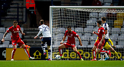 Tom Barkhuizen of Preston North End scores his sides first goal  - Mandatory by-line: Matt McNulty/JMP - 04/04/2017 - FOOTBALL - Deepdale - Preston, England - Preston North End v Bristol City - Sky Bet Championship