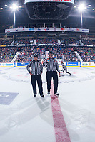 REGINA, SK - MAY 22: Linesman at the Brandt Centre on May 22, 2018 in Regina, Canada. (Photo by Marissa Baecker/CHL Images)