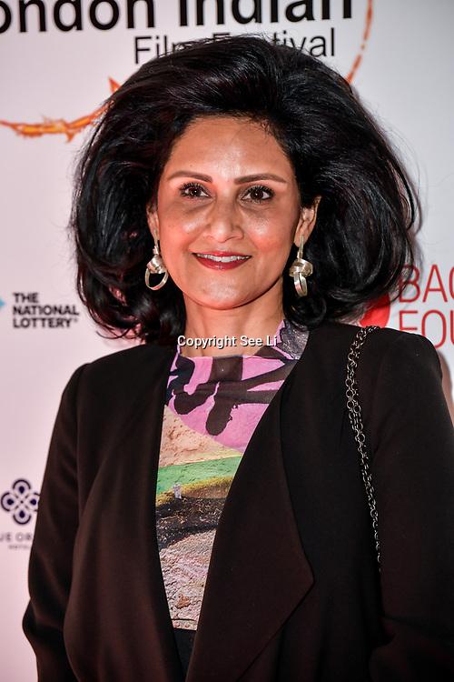 Dr Alka Bagri of Bagri Foundation Tittle Sponsor arrives at London Indian Film Festival world premiere of Anubhav Sinha's 'Article 15' at Picturehouse Central, on 20 June 2019, London , UK.