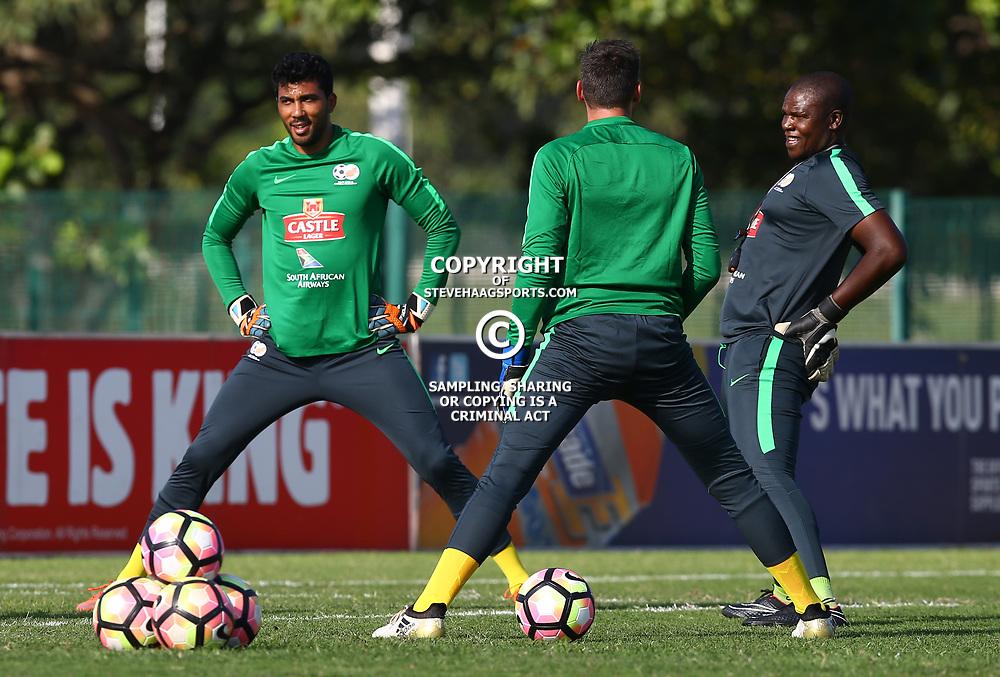 Shu-Aib Walters G/K of (Bafana Bafana) South Africa during the Bafana Bafana Training at People's Park, Moses Mabhida Stadium in Durban,21st March 2017 (Steve Haag)