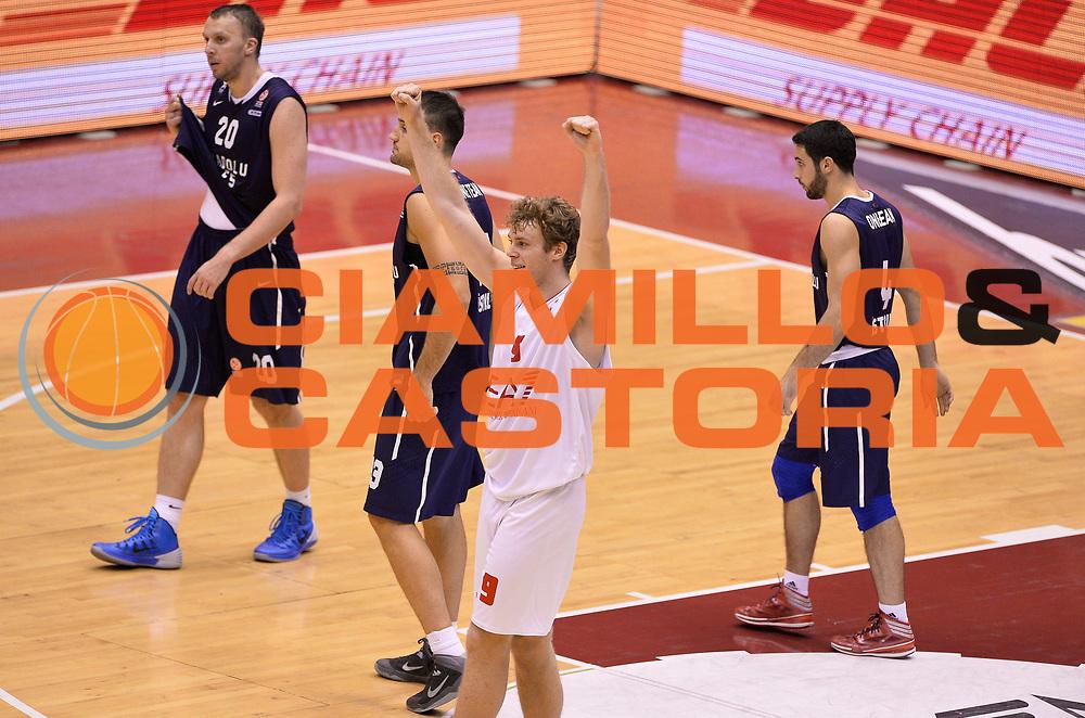 DESCRIZIONE : Milano Eurolega 2013/14 EA7 Olimpia Milano Efes Istanbul<br /> GIOCATORE : Nicolo' Melli<br /> CATEGORIA : esultanza<br /> SQUADRA : EA7 Olimpia MIlano<br /> EVENTO : Eurolega 2013/14<br /> GARA : EA7 Olimpia Milano Efes Istanbul<br /> DATA : 22/11/2013<br /> SPORT : Pallacanestro <br /> AUTORE : Agenzia Ciamillo-Castoria/R.Morgano<br /> Galleria : Eurolega 2013-2014  <br /> Fotonotizia : Milano Eurolega 2013/14 EA7 Olimpia Milano Efes Istanbul <br /> Predefinita :