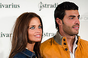 """Miguel Torres and his girlfriend at  Stradivarius store for the collection """"Fiesta'12 party  in Madrid"""