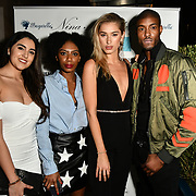 Claudia Sowaha,Tonique Campbell, Lilly Douse, and Stefan-Pierre Tomlin Arrivers at Nina Naustdal catwalk show SS19/20 collection by The London School of Beauty & Make-up at Bagatelle on 26 Feb 2019, London, UK.