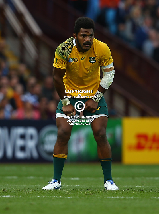 BIRMINGHAM, ENGLAND - SEPTEMBER 27: Henry Speight of Australia during the Rugby World Cup 2015 Pool A match between Australia and Uruguay at Villa Park on September 27, 2015 in Birmingham, England. (Photo by Steve Haag/Gallo Images)