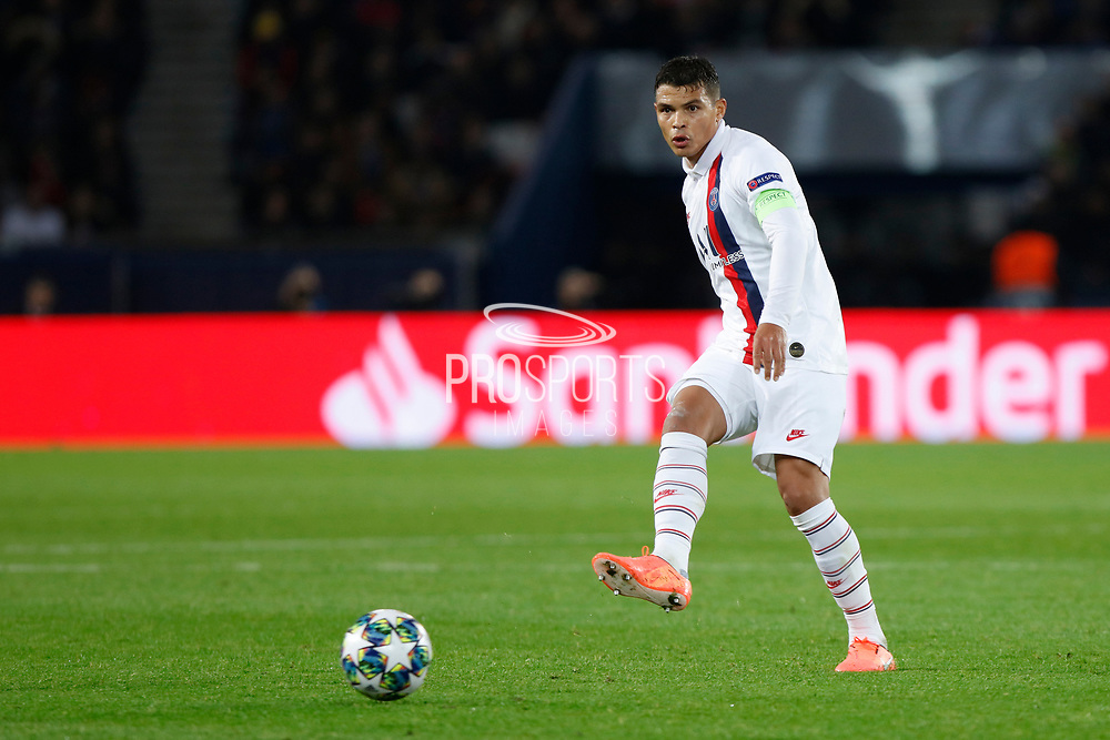 Thiago Silva of PSG during the UEFA Champions League, Group A football match between Paris Saint-Germain and Club Brugge on November 6, 2019 at Parc des Princes stadium in Paris, France - Photo Mehdi Taamallah / ProSportsImages / DPPI