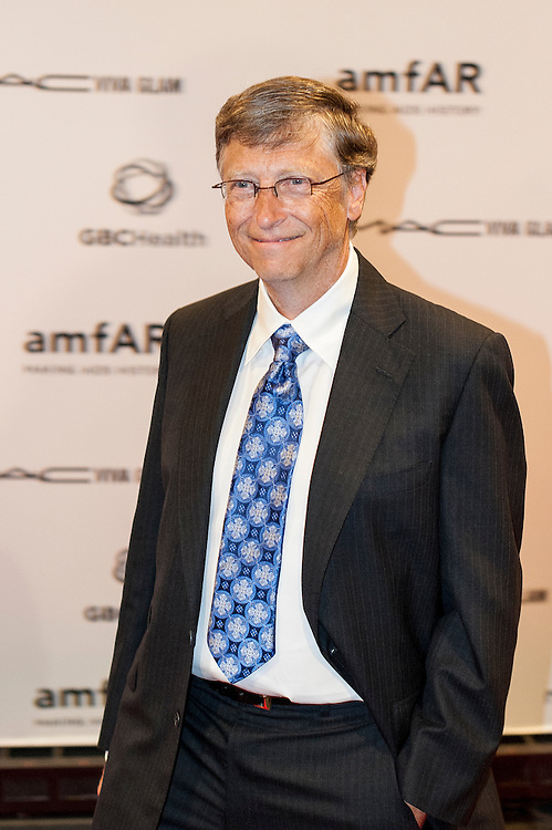 Bill Gates arrives at the John F. Kennedy Center for the Performing Arts for a Foundation for AIDS Research and GBCHealth benefit event in his honor on the eve of the 19th International AIDS Conference in Washington, DC, USA on 21 July, 2012. The event, titled ?Together to End AIDS,? pays tribute to the spirit of global collaboration that has underpinned the world's progress in the fight against AIDS. Gates, the co-chair of the Bill & Melinda Gates Foundation and the former CEO and current chairman of Microsoft, received amfAR's Award of Courage for his visionary leadership on global health and HIV/AIDS.