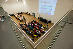 Coach's meeting  at 2015 IPC Swimming World Championships -  Coaches Meeting in the Media Centre
