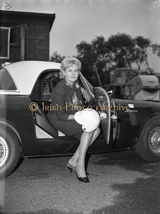 Miss Rosemary Smith, Dress Designer, will race at the Phoenix Park in the Sunbeam Alpine car, which has been specially provided for her from England. This is the car in which the 22 year-old was to have competed in in the Le Mans but as a woman was refused permission to race by the French Authorities..11.07.1962