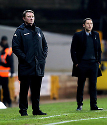 Bury manager Chris Brass and Port Vale manager Michael Brown - Mandatory by-line: Robbie Stephenson/JMP - 20/01/2017 - FOOTBALL - Vale Park - Stoke-on-Trent, England - Port Vale v Bury - Sky Bet League One