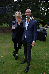 Alison Jackson and guest at the Dulwich Picture Gallery's inaugural Summer Party, Dulwich Picture Gallery, College Road, London England. 13 June 2017.