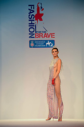 ABBEY CLANCY modeling at Fashion For The Brave at The Dorchester, Park Lane, London on 8th November 2013.