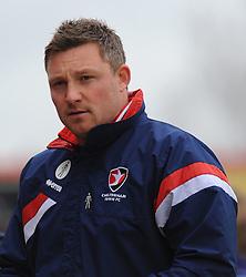Cheltenham Town's Assistant Manager Steve Elliott  looks on - Photo mandatory by-line: Nizaam Jones - Mobile: 07966 386802 - 28/03/2015 - SPORT - Football - Cheltenham - Whaddon Road - Cheltenham Town v Plymouth Argyle - Sky Bet League Two