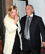 20.FEBRUARY.2011. LONDON<br /> <br /> KATE MOSS AND SIR PHILIP GREEN AT THE TOPSHOP AFTERPARTY AT HARRY'S BAR IN CENTRAL LONDON<br /> <br /> BYLINE: EDBIMAGEARCHIVE.COM<br /> <br /> *THIS IMAGE IS STRICTLY FOR UK NEWSPAPERS AND MAGAZINES ONLY*<br /> *FOR WORLD WIDE SALES AND WEB USE PLEASE CONTACT EDBIMAGEARCHIVE - 0208 954 5968*