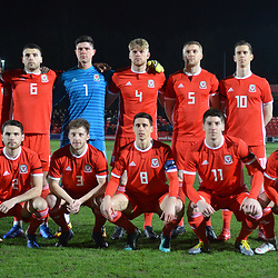 19/3/2019 - The Wales team line up before the C International between England and Wales at the Peninsula Stadium, Salford.<br /> <br /> Pic: Mike Sheridan/County Times<br /> MS023-2019