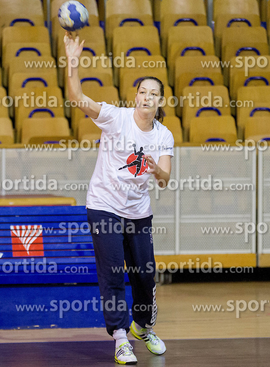 Nina Jericek during practice session of Slovenian Women handball National Team three days before match against Serbia, on October 24, 2013 in Arena Tivoli, Ljubljana, Slovenia. (Photo by Vid Ponikvar / Sportida)