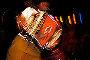 4/5/05  New Orleans Rockin accordion player<br /> <br /> Photo by Michael  A. Schwarz,
