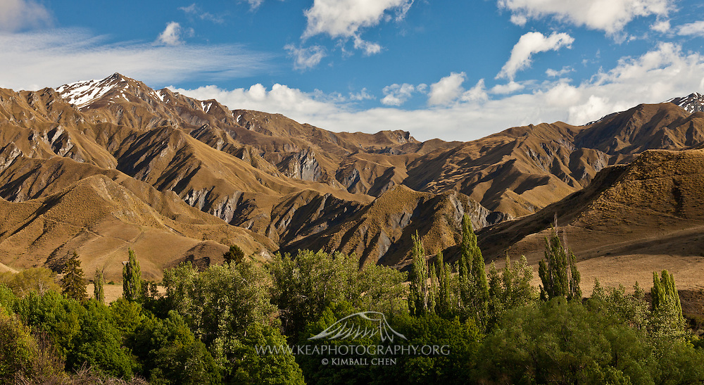 Looking north towards Advance Peak, from Macetown, Central Otago.