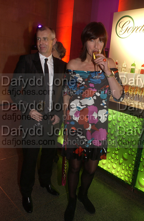 Neil Tennant and Janet Street-Porter. Turner Prize 2005. Tate Britain.   5 December  2005. ONE TIME USE ONLY - DO NOT ARCHIVE  © Copyright Photograph by Dafydd Jones 66 Stockwell Park Rd. London SW9 0DA Tel 020 7733 0108 www.dafjones.com