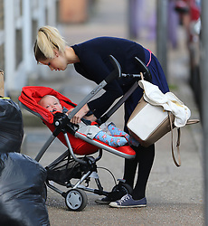 Peaches Geldof and her son Astala arriving home. London, UK. 30/04/2013<br />