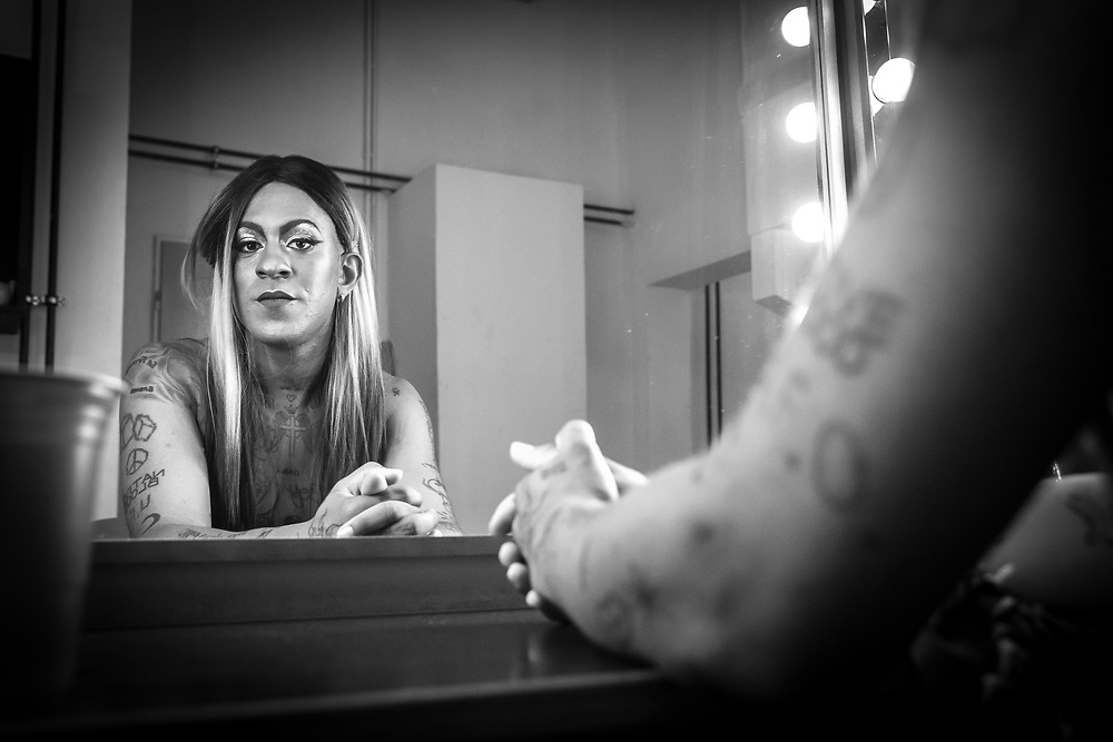 Germany - Deutschland - MUSIK, music; Mykki Blanco, backstage at Berghain, Berlin before his concert, 03.08.2017; © Christian Jungeblodt