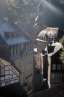 Early morning mist rises over Monschau ..., Travel, lifestyle