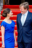 26-4-2017 DEN HAAG - de Koning Willem-Alexander en kroon prinses Victoria uit zweden  is woensdagochtend 26 april aanwezig bij de viering van het 20-jarig jubileum van de inwerkingtreding van het Verdrag Chemische Wapens (CWC) en de oprichting van de Organisatie voor het Verbod van Chemische Wapens (OPCW). De ceremonie vindt plaats in de Ridderzaal in Den Haag. COPYRIGHT ROBIN UTRECHT<br /> <br /> 26-4-2017 THE HAGUE - King William Alexander and Crown Princess Victoria from Sweden will be present on the occasion of the celebration of the 20th anniversary of the entry into force of the Chemical Weapons Convention (CWC) on Wednesday morning 26 April and the establishment of the Organization For the Weapons of Chemical Weapons (OPCW). The ceremony takes place in the Ridderzaal in The Hague. COPYRIGHT ROBIN UTRECHT