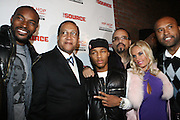 """l to r: Tyson Beckford, Rev. Benjamin Chavis, Bow Wow, Ice T, Coco and Londell McMillan at The Russell Simmons and Spike Lee  co-hosted""""I AM C.H.A.N.G.E!"""" Get out the Vote Party presented by The Source Magazine and The HipHop Summit Action Network held at Home on October 30, 2008 in New York City"""