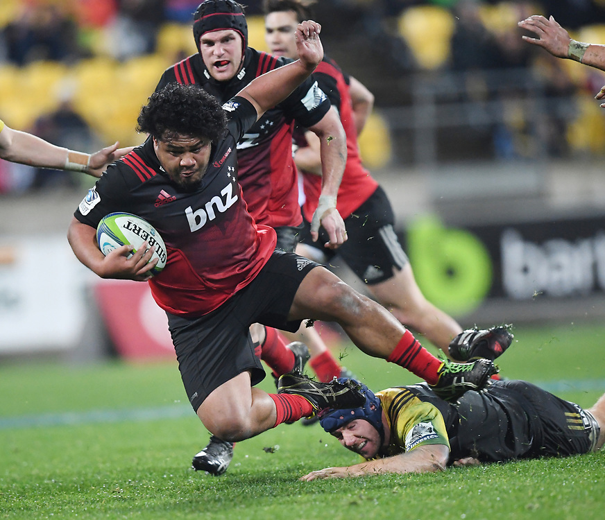 Crusaders Andrew Makalio against the Hurricanes in Super Rugby match at Westpac Stadium, Wellington, New Zealand, Saturday, July 15, 2017. Credit:SNPA / Ross Setford  **NO ARCHIVING""