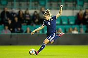 Kim Little (#8) of Scotland scores Scotland's third goal (3-0) during the Women's Euro Qualifiers match between Scotland Women and Cyprus Women at Easter Road, Edinburgh, Scotland on 30 August 2019.