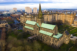 View of Glasgow Cathedral and city of Glasgow ,Scotland, UK