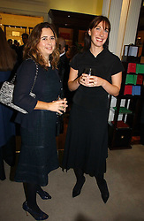 Left to right, ALEXANDRA SHULMAN and SAMANTHA CAMERON at a party to celebrate the 10th anniversary of the Smythson Fashion Diary and to the launch of the 2007 Limited Edition held at Smythson, New Bond Street, London on 25th October 2006.<br />