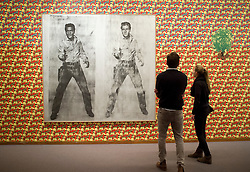 Double Elvis by Andy Warhol at Neue Nationalgalerie or New National Gallery in berlin Germany