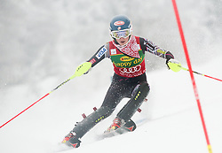 SHIFFRINMikaela of USA competes during 1st Run of 50th Golden Fox Audi Alpine FIS Ski World Cup Ladies Slalom, on February 2, 2014 in Podkoren, Kranjska Gora, Slovenia. (Photo By Matic Klansek Velej / Sportida.com)