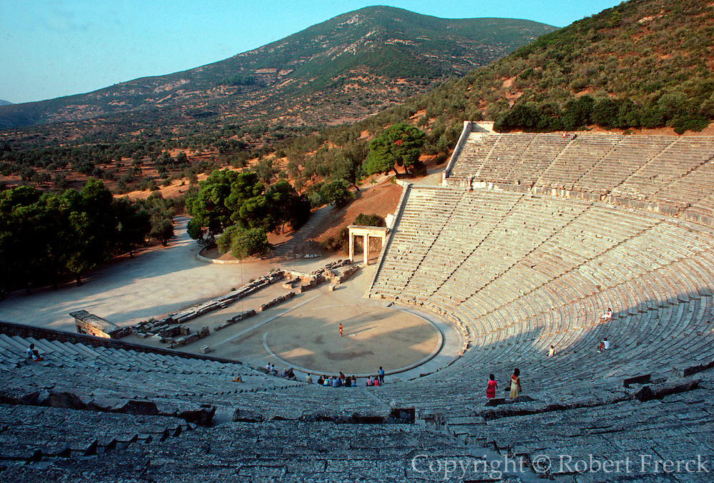 GREECE, HISTORIC SITES the Theatre of Epidauros in the Peloponnese;  the best preserved Greek theatre; built in the 4thC B.C.